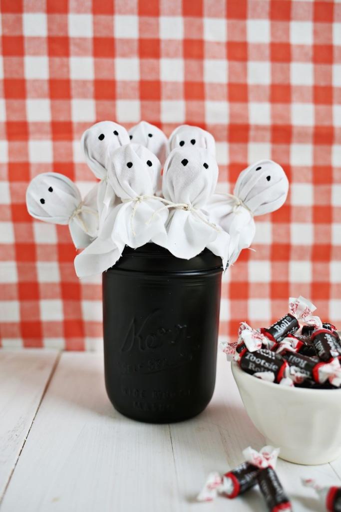 sucettes-fantômes pour Halloween