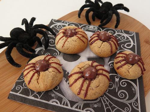 goûter Halloween spider cookies