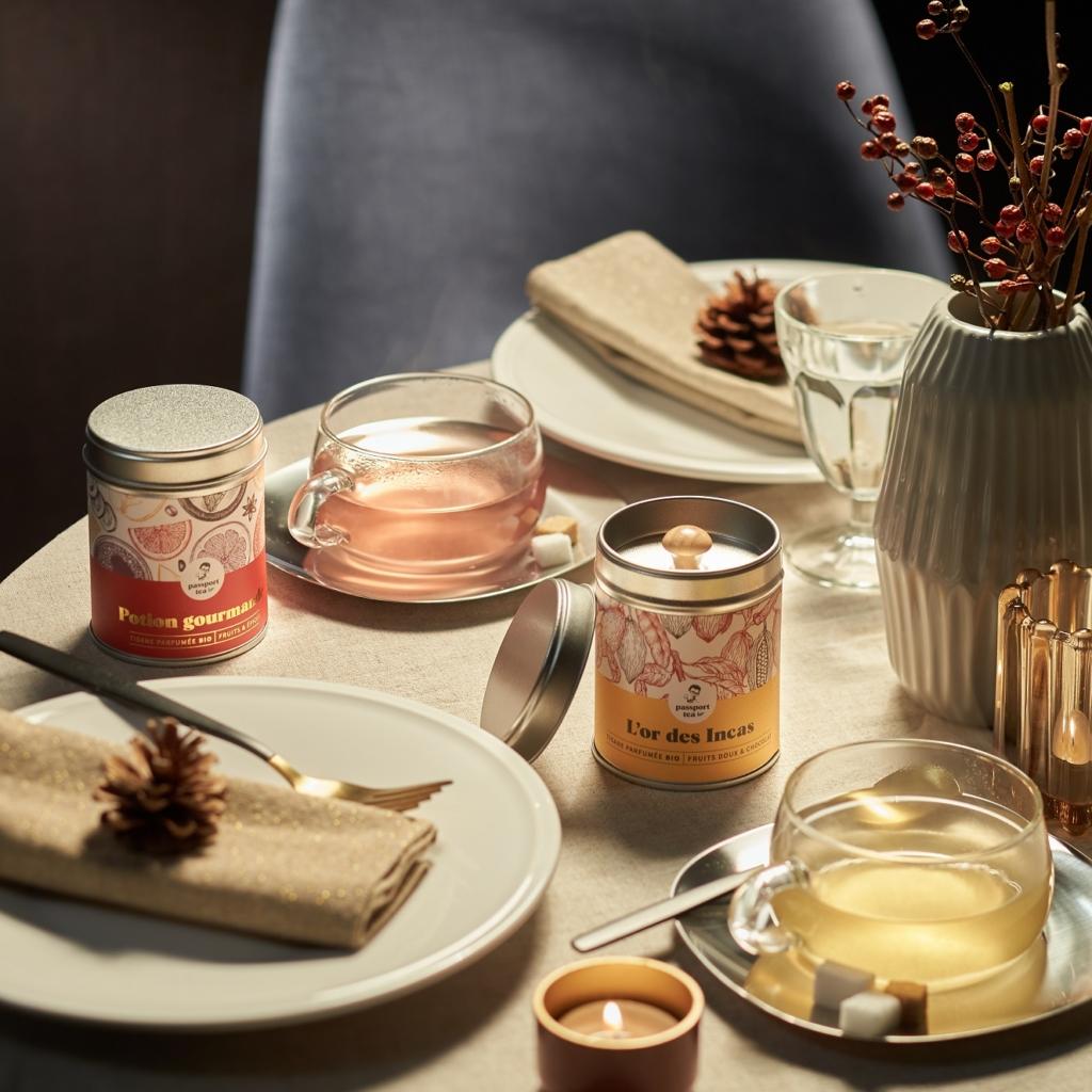 offrir du thé à Noël - convivialité