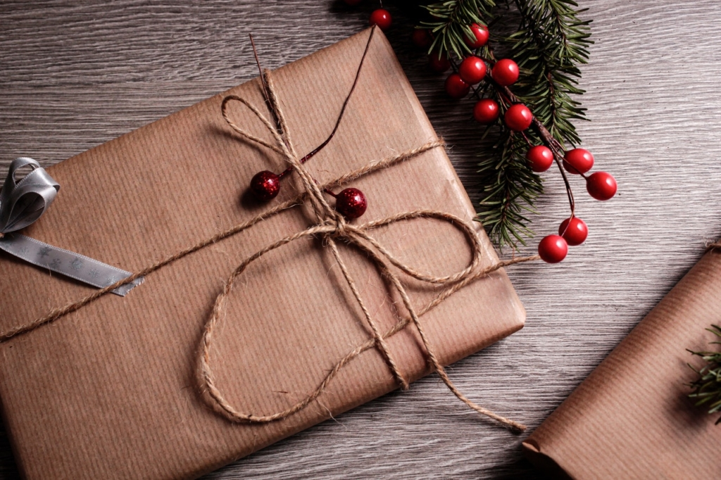 cadeau de Noël - emballage éco-responsable